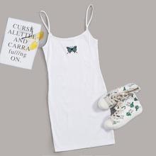Cami Kleid mit Schmetterling Stickereien