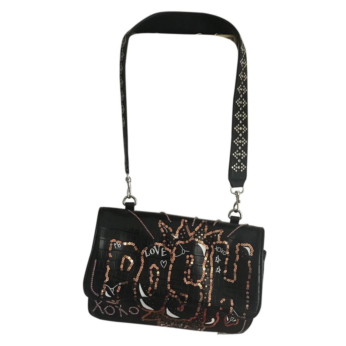 Mia Bag \N Handtasche in  Schwarz Mit Pailletten