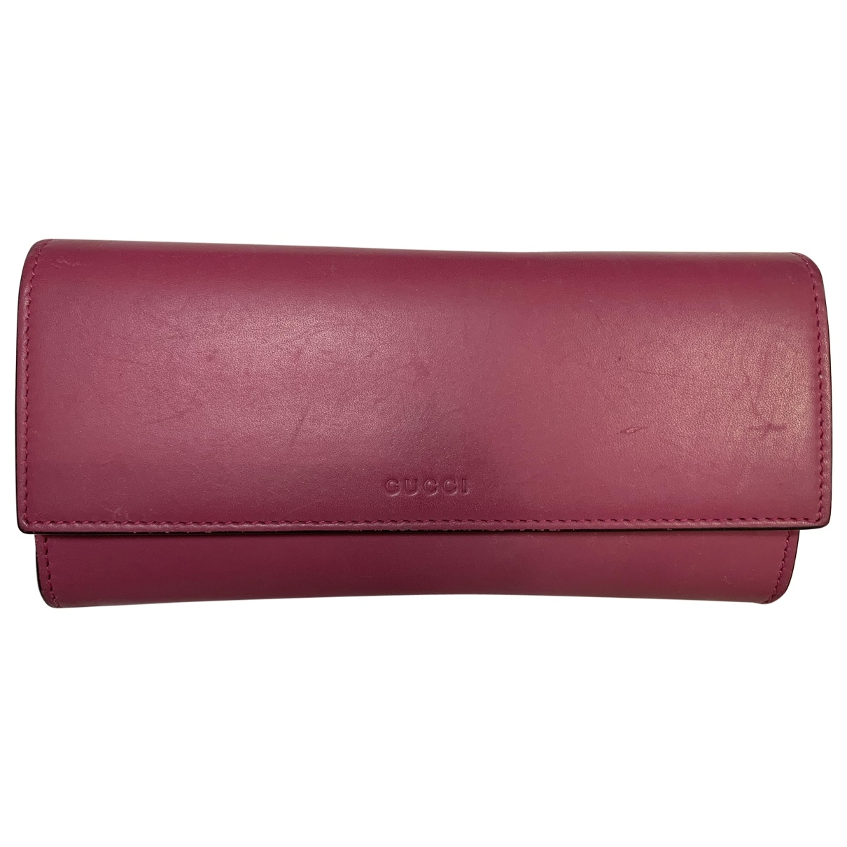 Gucci \N Burgundy Leather wallet for Women \N