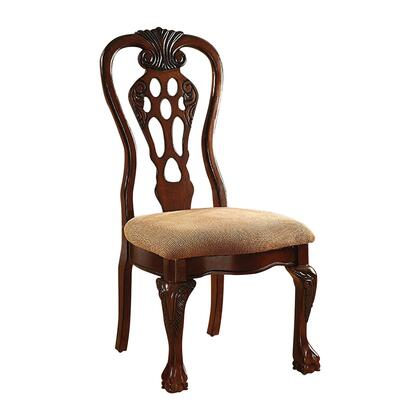 BM131216 Traditional Fabric Upholstered Wooden Side Chair  Set Of 2