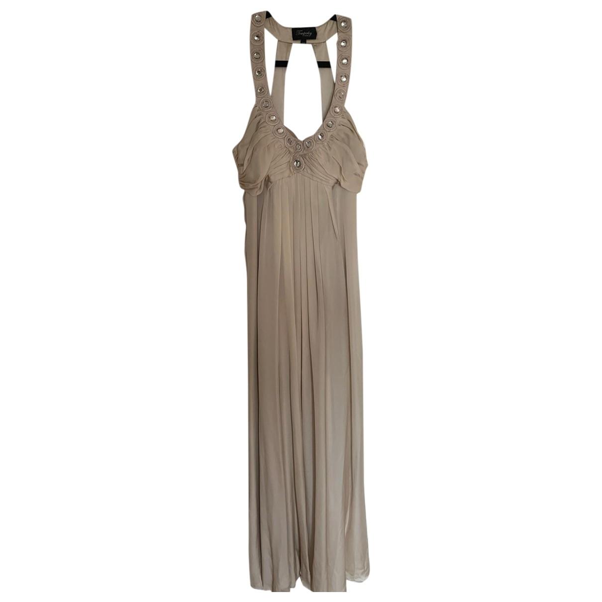 Temperley London \N Beige Silk dress for Women 10 UK