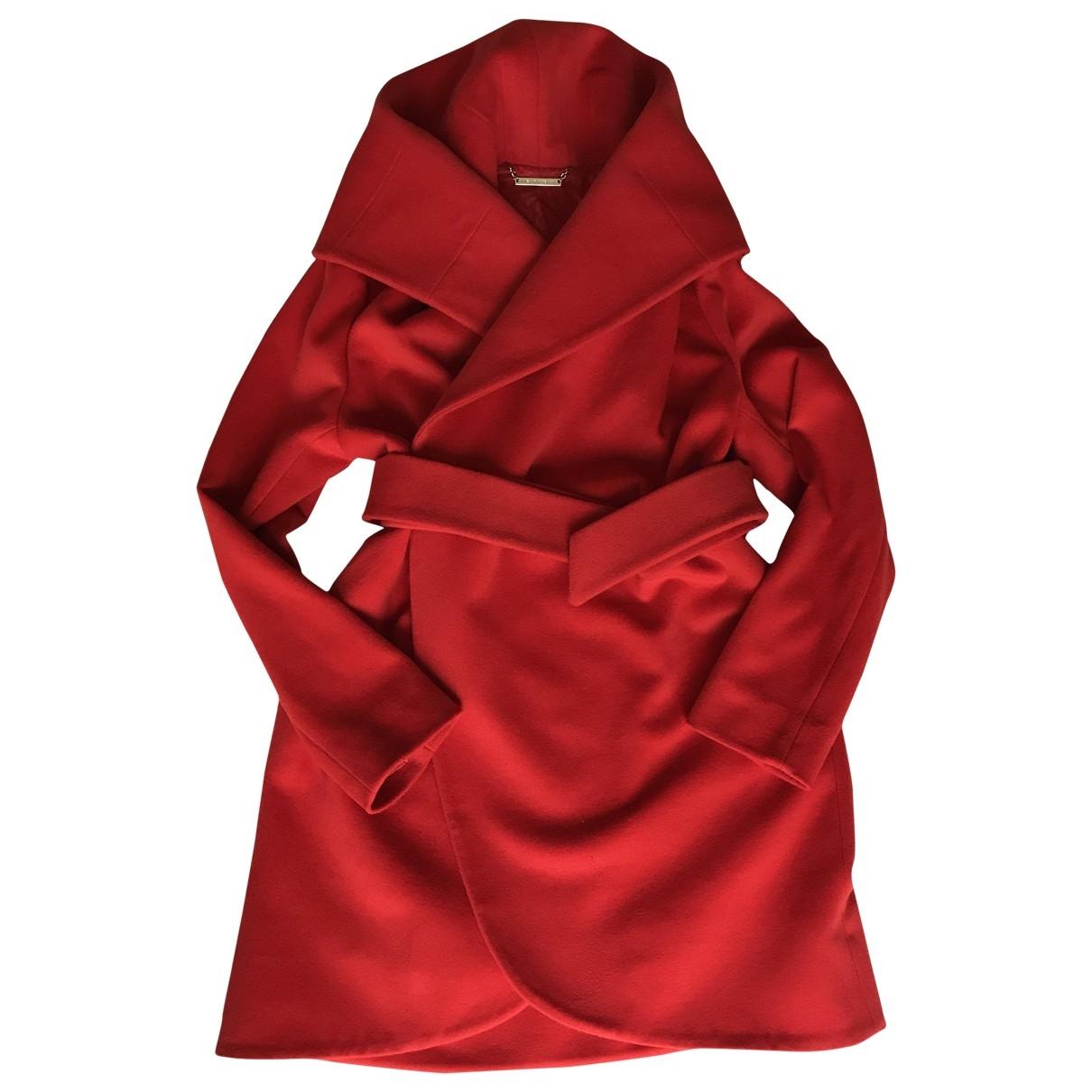 Diane Von Furstenberg - Manteau   pour femme en laine - rouge