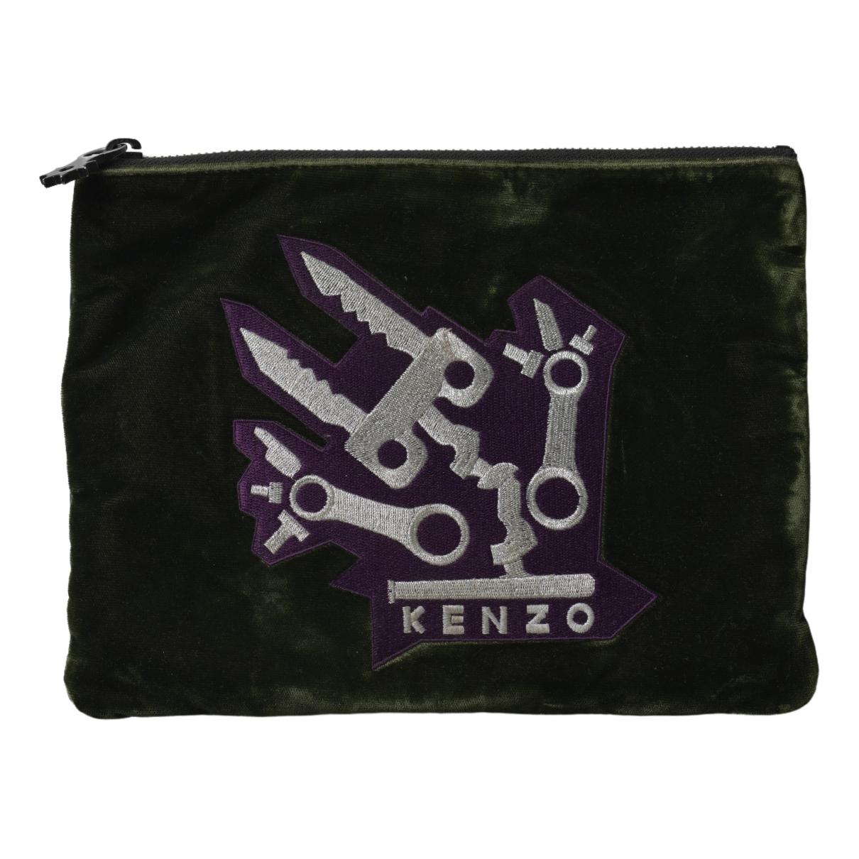 Kenzo - Petite maroquinerie   pour femme en toile - kaki