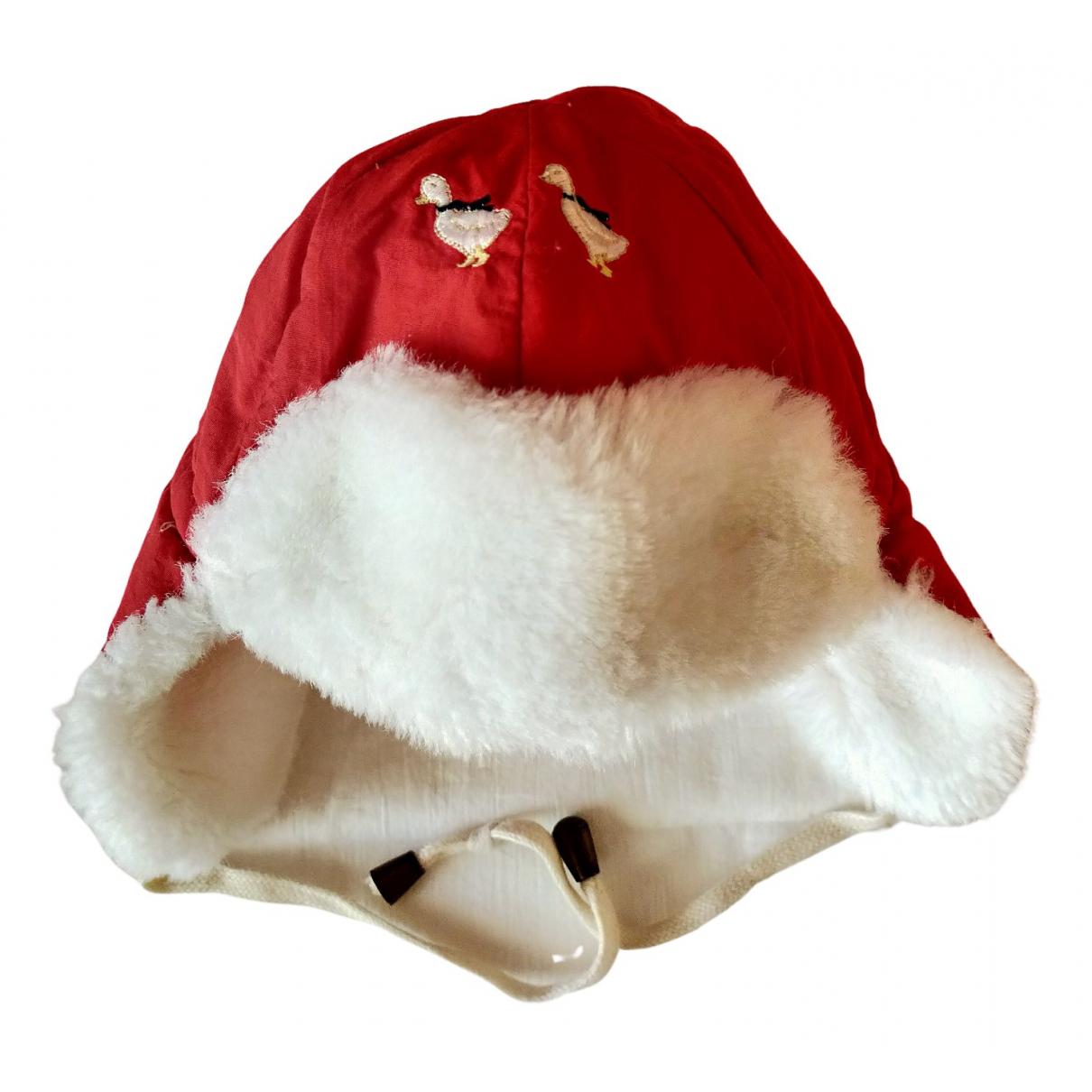 Jacadi N Red Cotton hat & Gloves for Kids N