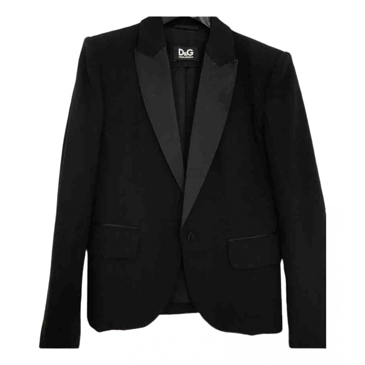 D&g \N Black Wool jacket for Women 36 FR