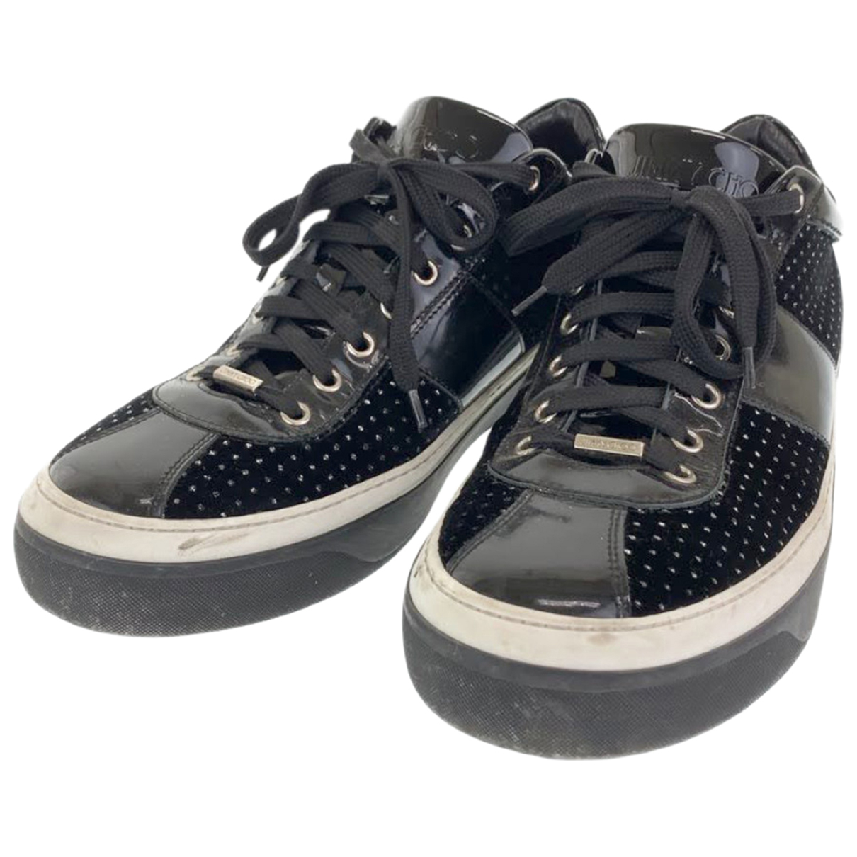 Jimmy Choo N Black Leather Trainers for Men 44 IT