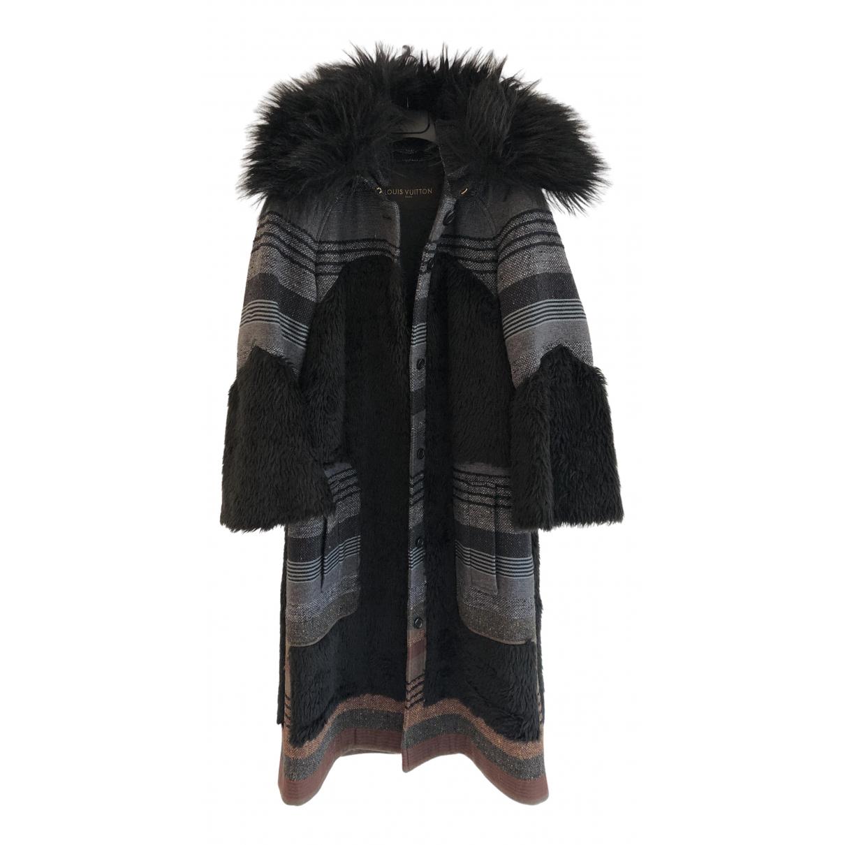 Louis Vuitton \N Black Faux fur coat for Women 38 FR
