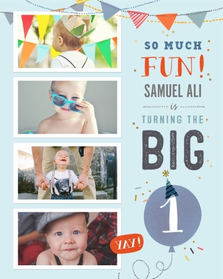 Baby + Kids 16x20 Adhesive Poster, Home Décor -So Much Fun Turning One