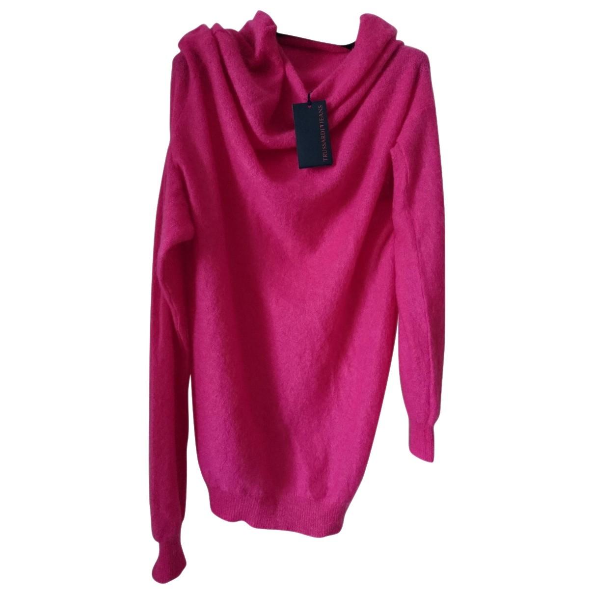 Trussardi Jean - Pull   pour femme en laine - rose