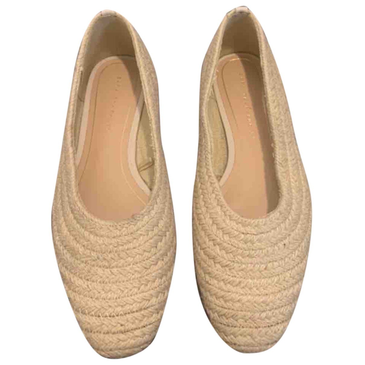 Zara N Beige Cloth Flats for Women 37 EU