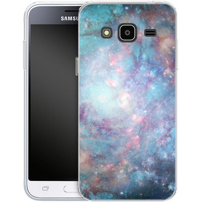 Samsung Galaxy J3 (2016) Silikon Handyhuelle - Abstract Galaxy - Blue von Barruf