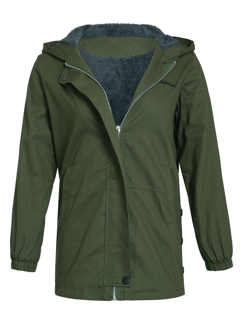 Ericdress Zipper Plain Regular Mid-Length Women's Hoodie