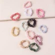 12 Stuecke Haarband mit Stern Dekor und Netzstoff