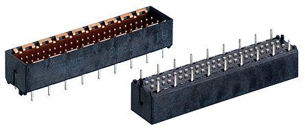 ERNI , MicroSpeed, 50 Way, 2 Row, Vertical PCB Header