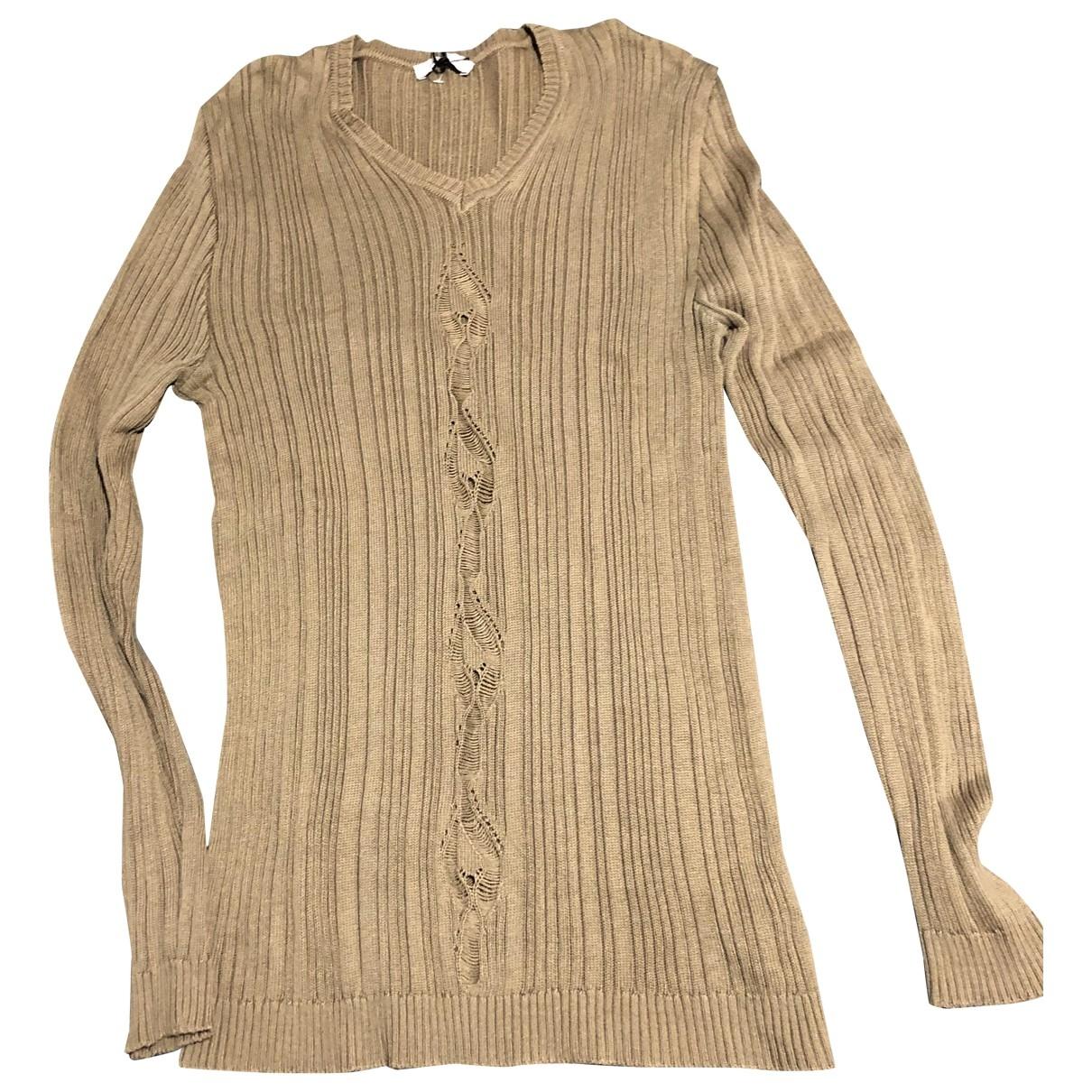 Versace \N Pullover.Westen.Sweatshirts  in  Beige Baumwolle