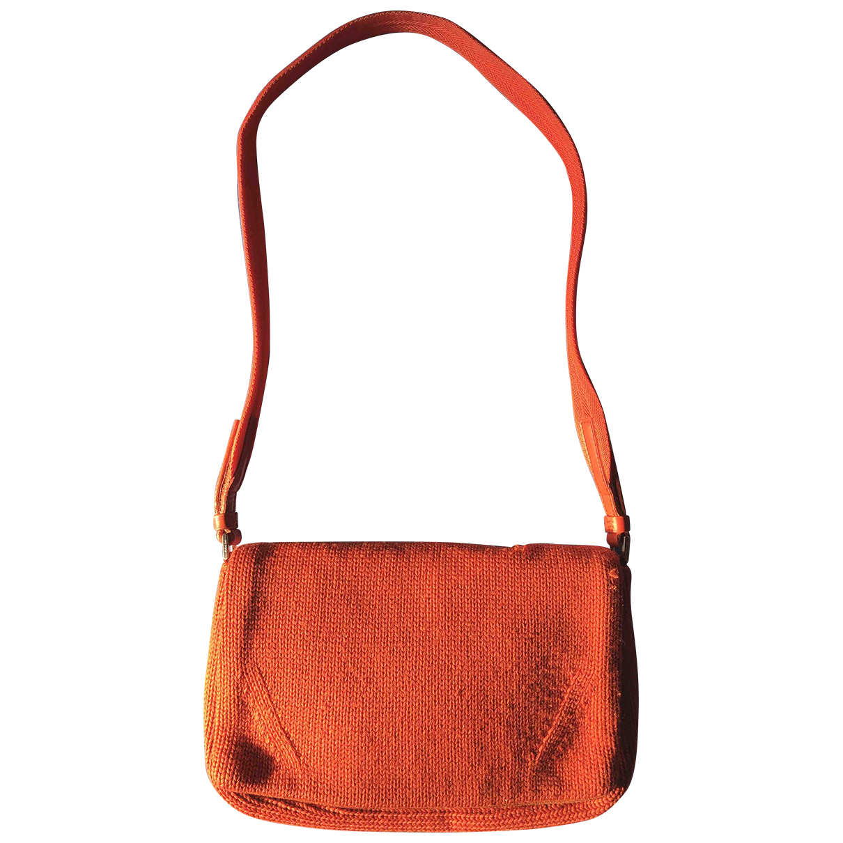 Prada \N Orange Wool handbag for Women \N