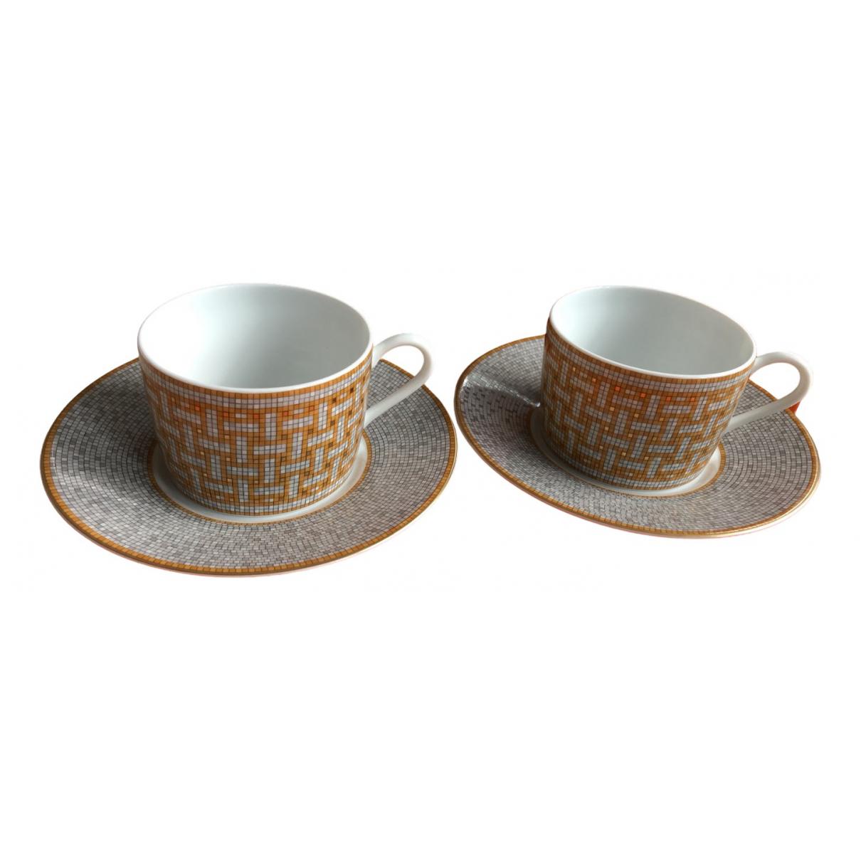 Juego de te/cafe Mosaique au 24 de Platino Hermes