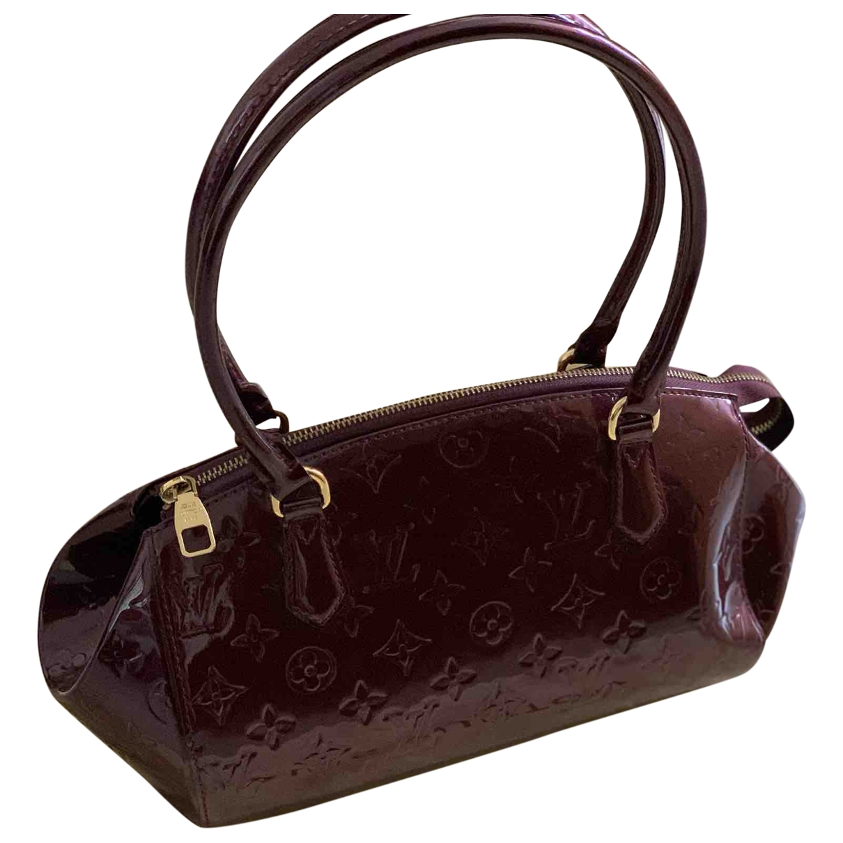Louis Vuitton \N Handtasche in  Lila Lackleder