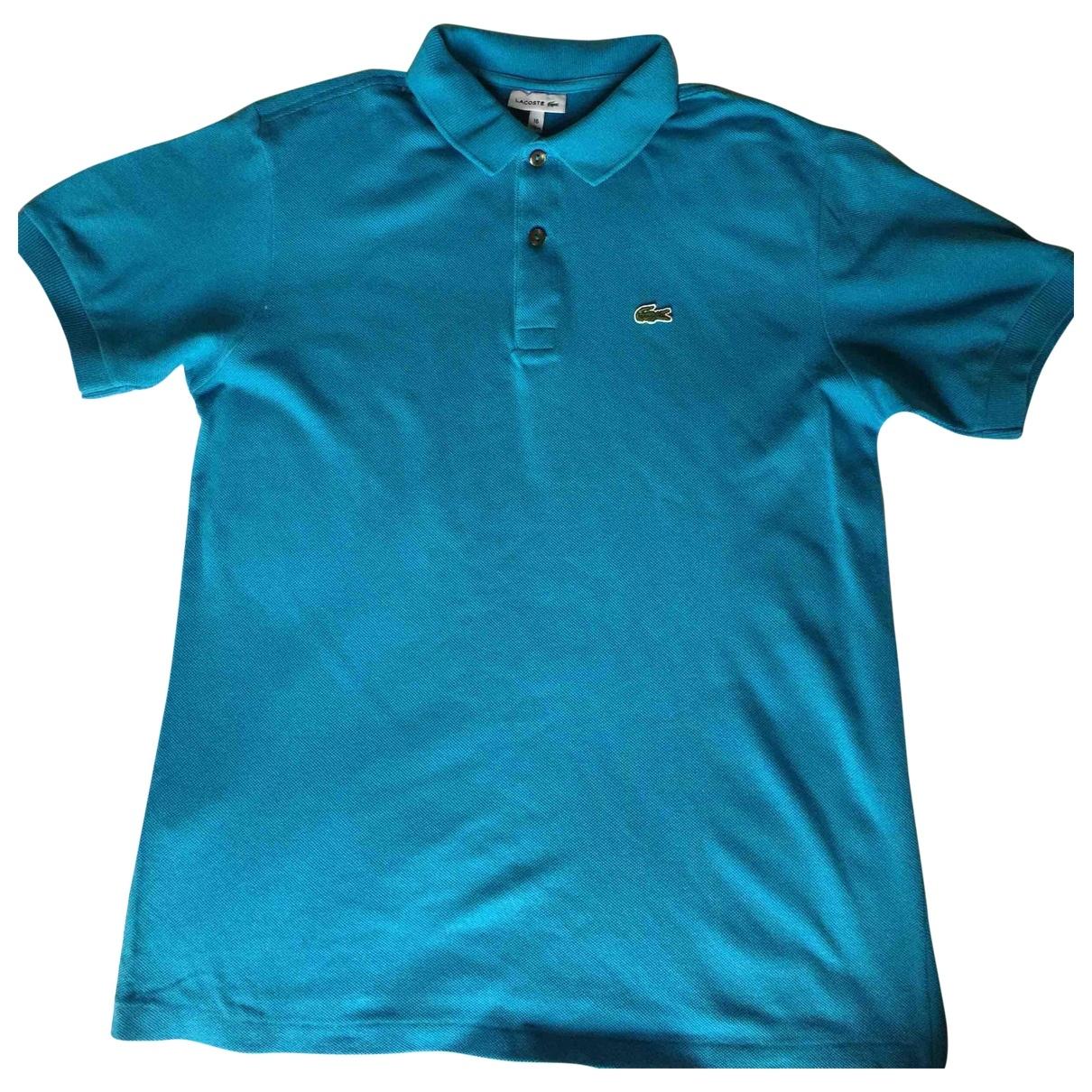Lacoste - Top   pour enfant en coton - bleu
