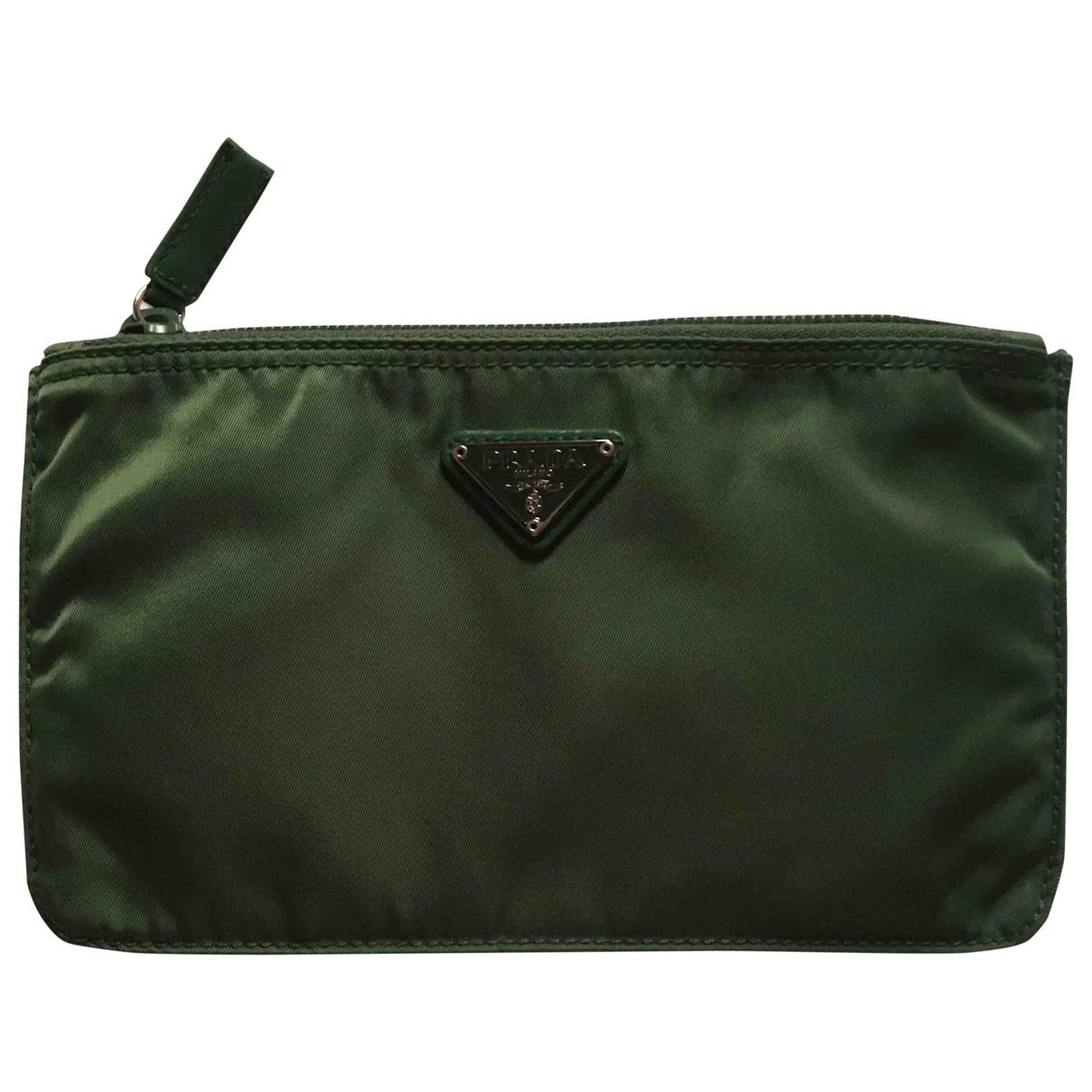 Prada \N Green Cloth Travel bag for Women \N