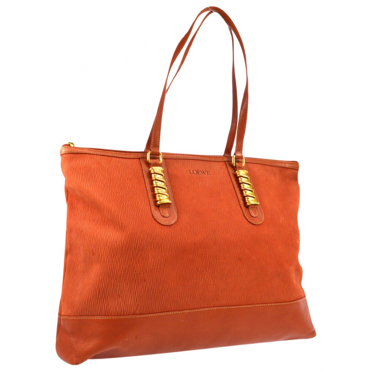 Loewe \N Orange Leather handbag for Women \N