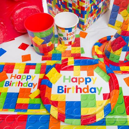 Building Blocks Birthday Beverage Napkins, 16ct Pour la fête d'anniversaire