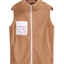 Guys Pocket Front Zip Up Vest