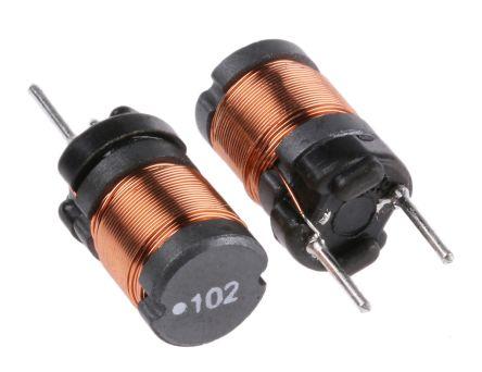 Wurth Elektronik Wurth 1 mH ±10% Ferrite Radial Inductor, 420mA Idc, 2.5Ω Rdc, WE-TI (10)