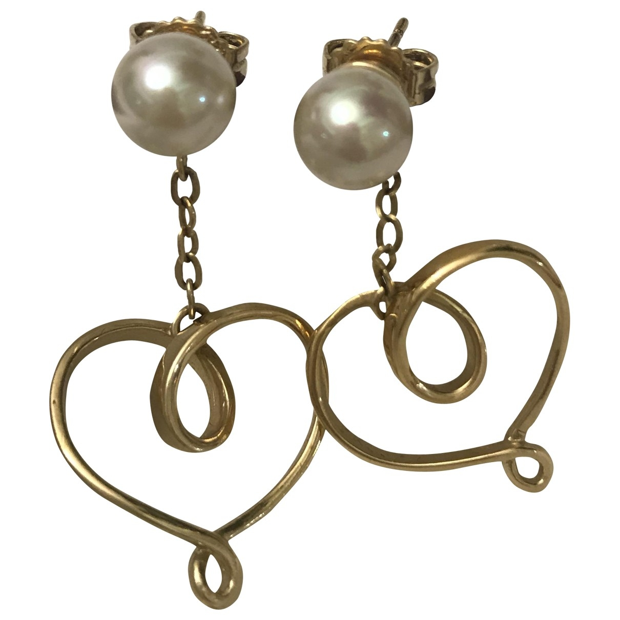 Non Signé / Unsigned Motifs Coeurs Gold Silver Earrings for Women \N