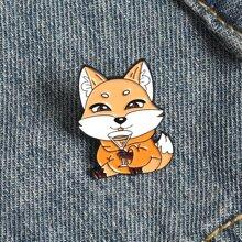 Fox Design Brooch