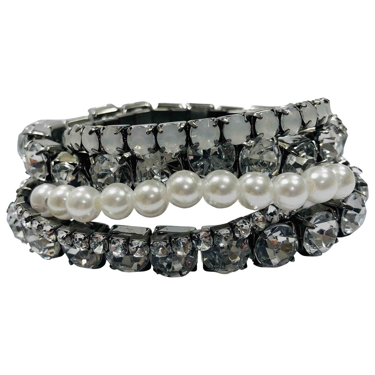 Calvin Klein - Bracelet   pour femme en metal - blanc
