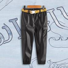 Pantalones para niño pequeño Bolsillo Liso Casual