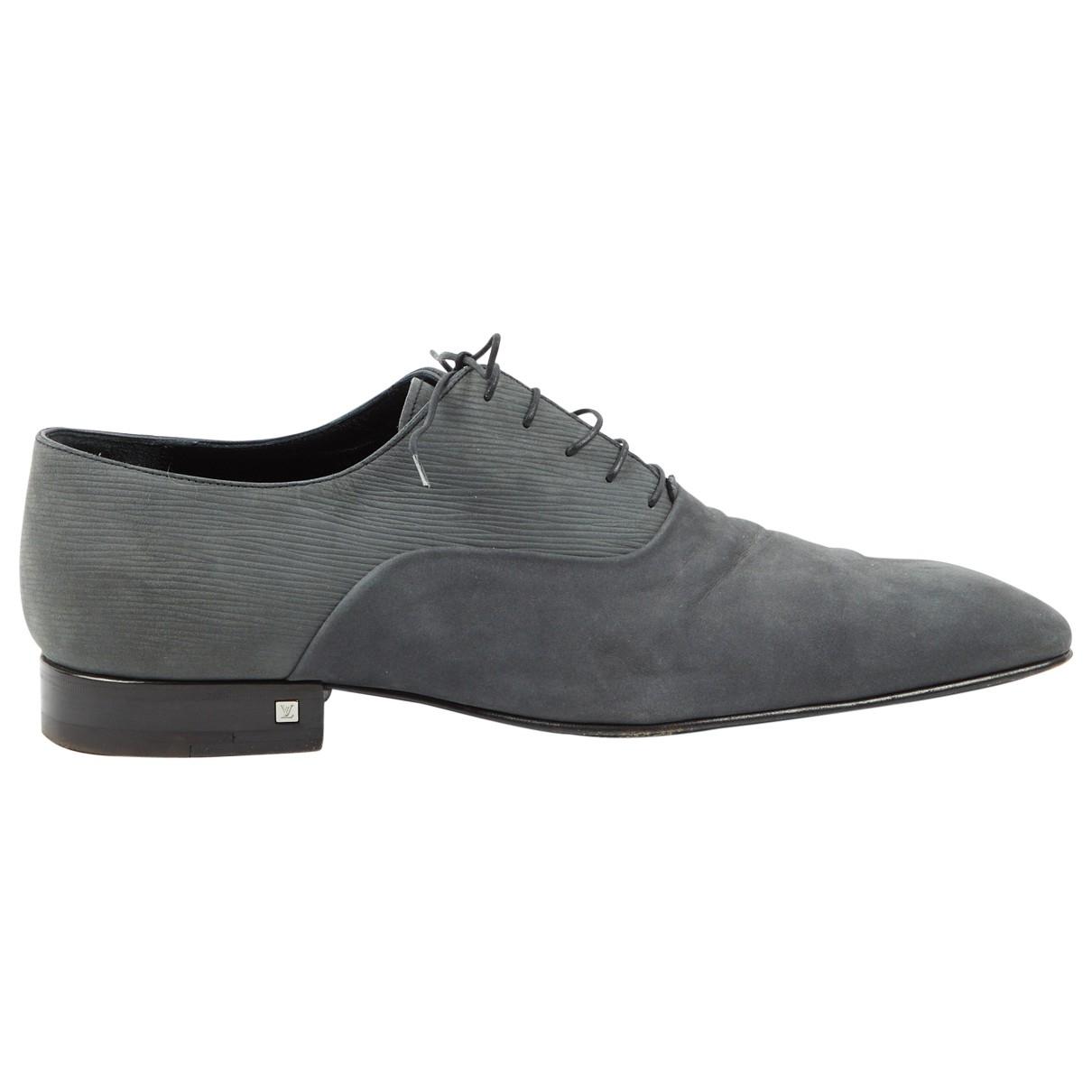 Louis Vuitton - Derbies   pour homme en suede - gris