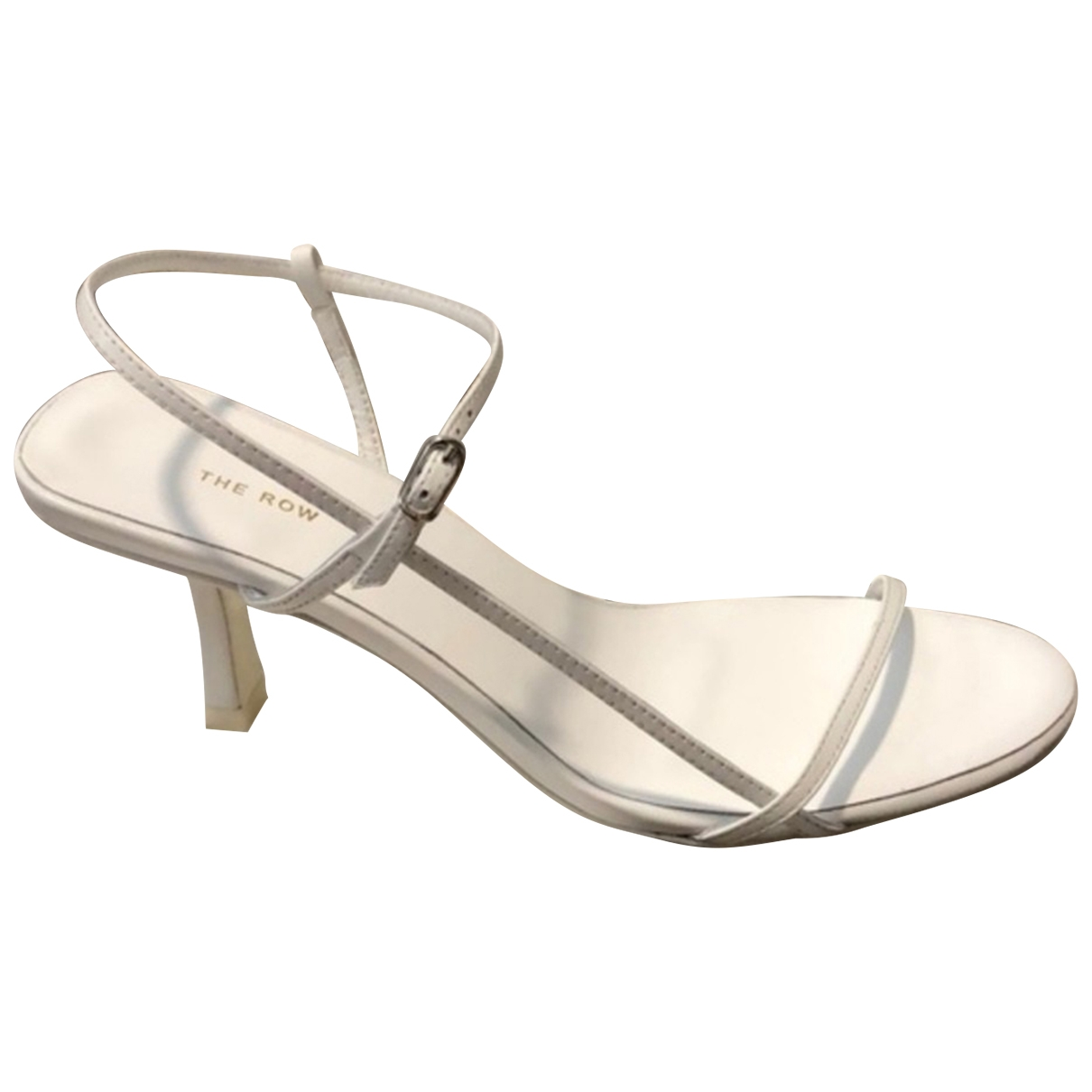 The Row Bare White Leather Sandals for Women 35 EU
