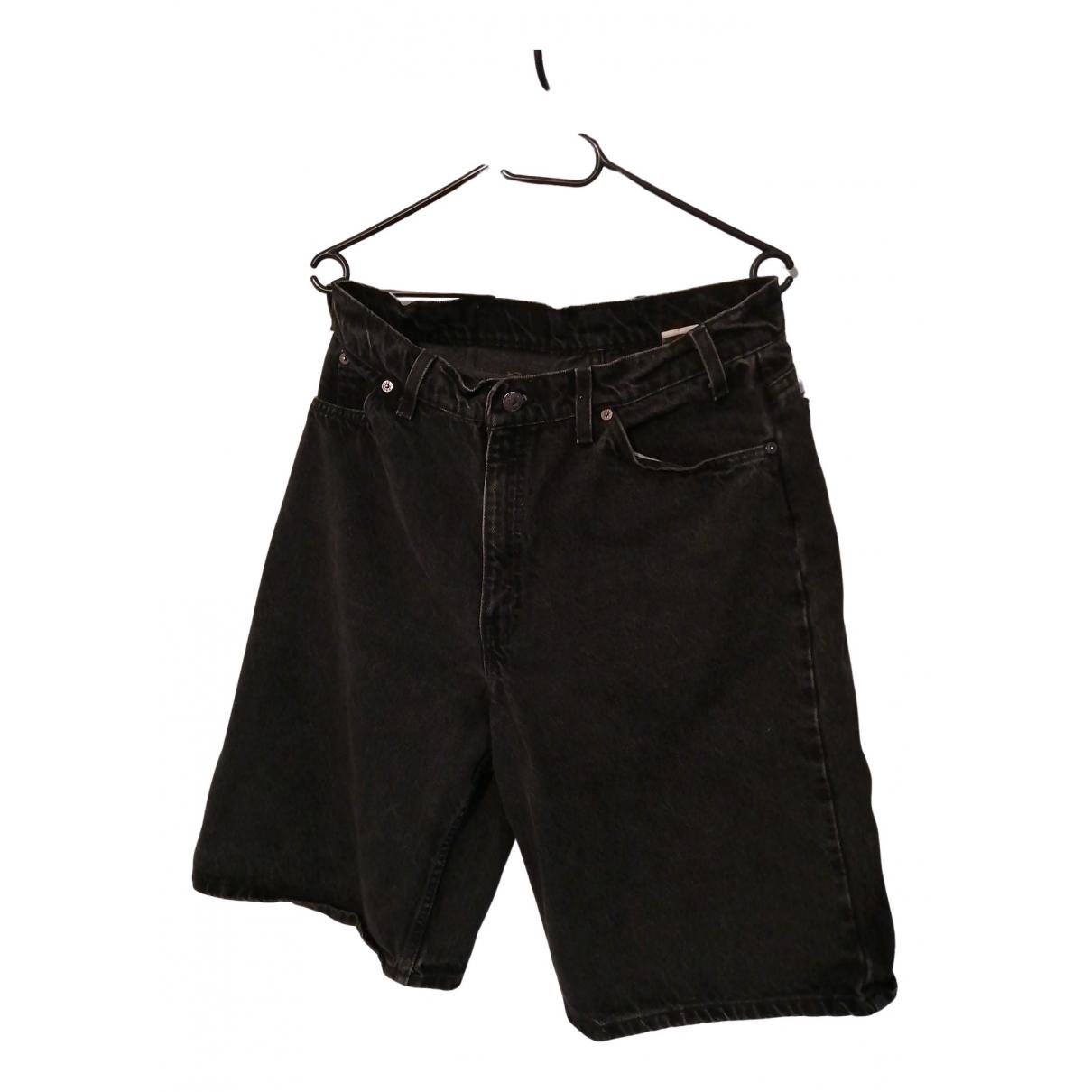 Levis \N Shorts in  Schwarz Denim - Jeans