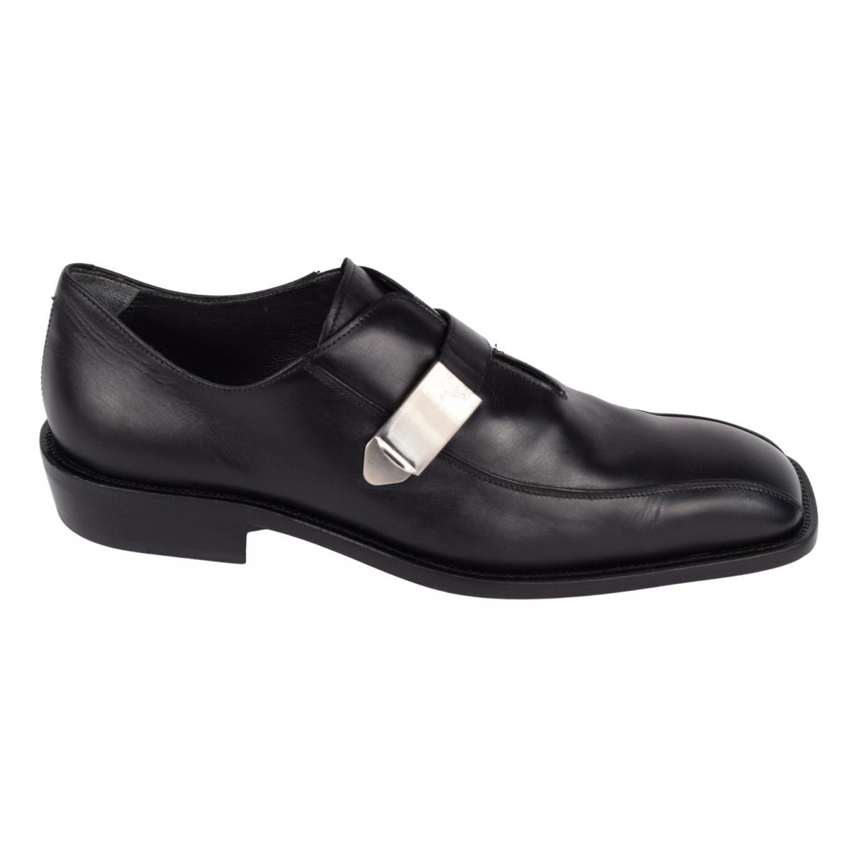 Gianni Versace \N Schnuerschuhe in  Schwarz Leder