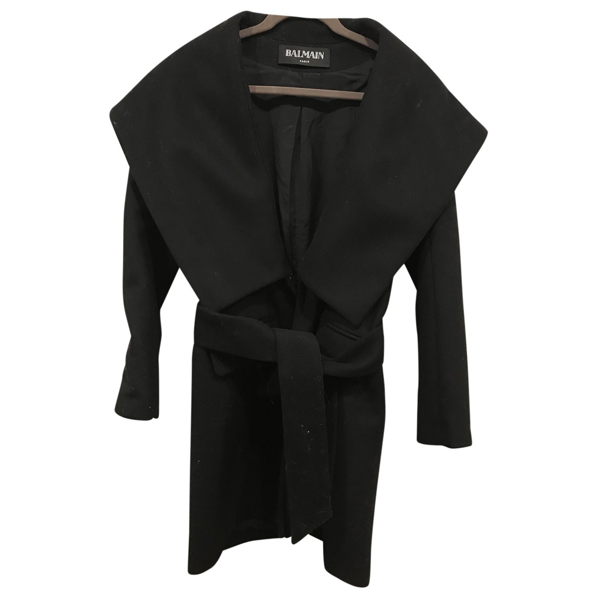 Balmain - Manteau   pour femme en laine - noir