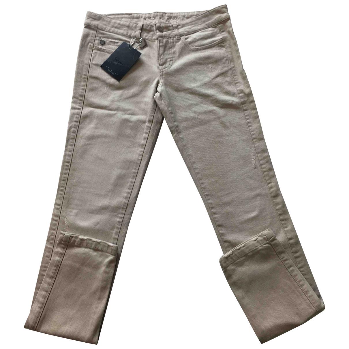 Twin Set \N Khaki Cotton - elasthane Jeans for Women 42 FR