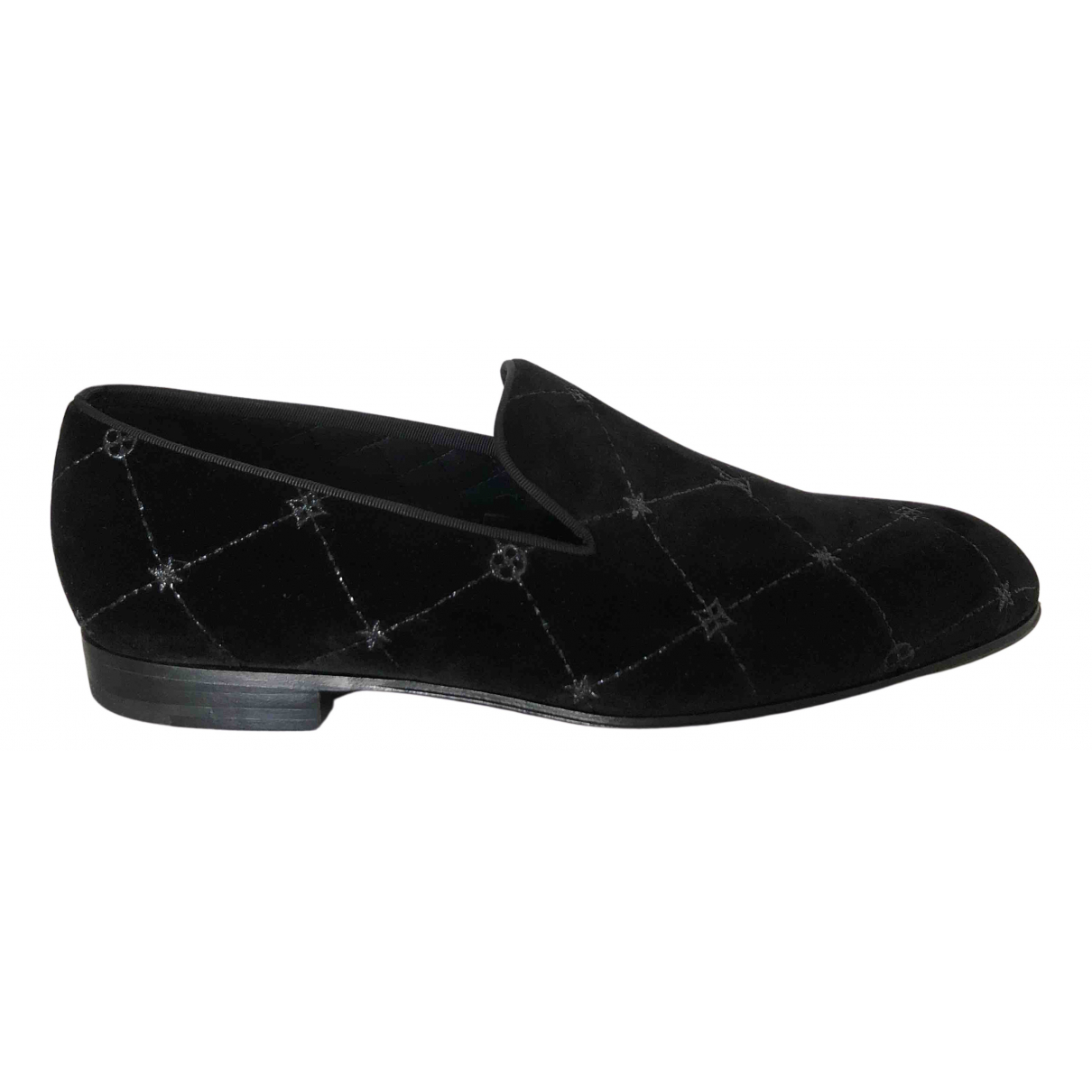 Louis Vuitton - Mocassins   pour homme en velours - noir