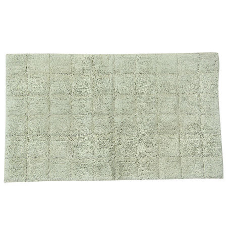 Castle Hill London Summer Tile Bath Rug Collection, One Size , Green