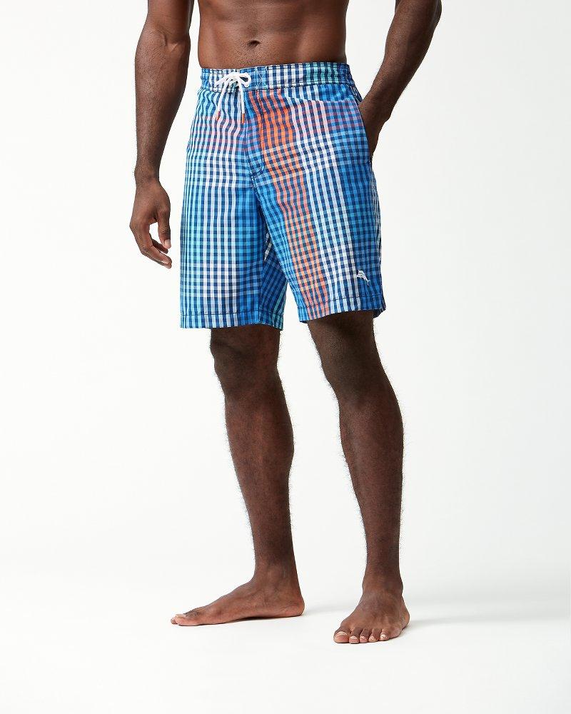 Big & Tall Baja King Of Gingham Board Shorts