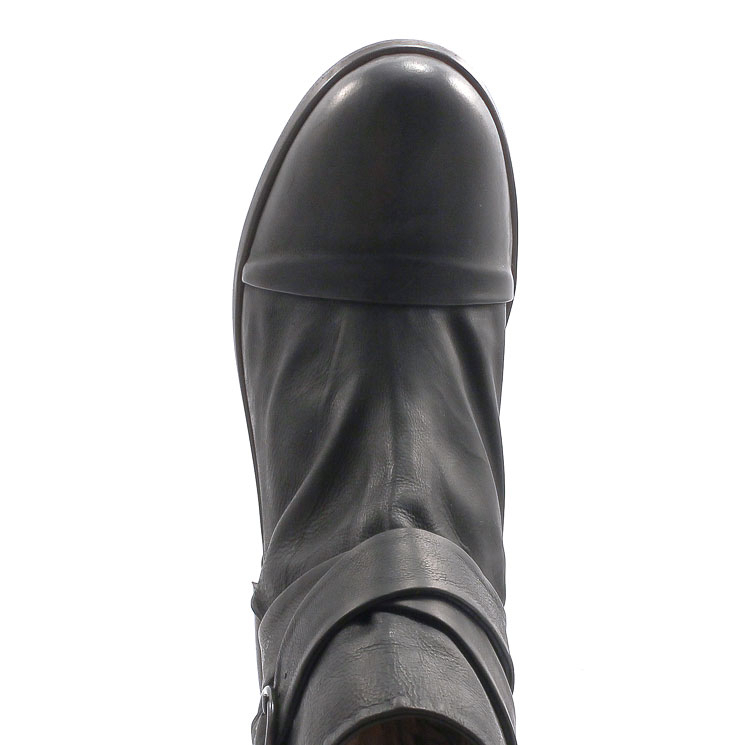 P. Monjo, P-163 Bowie Men's Bootees, black Größe 46