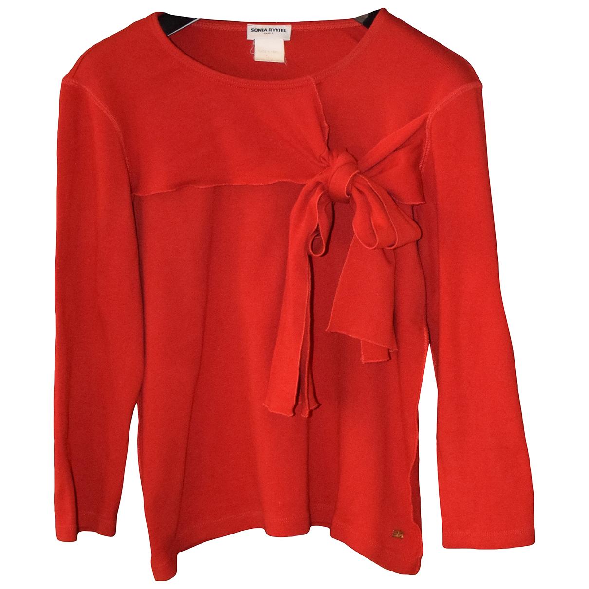 Sonia Rykiel - Top   pour femme en coton - rouge