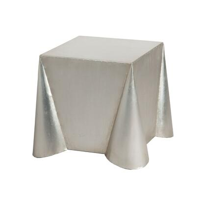 7117006 Tin Covered Side Table In Antique Silver