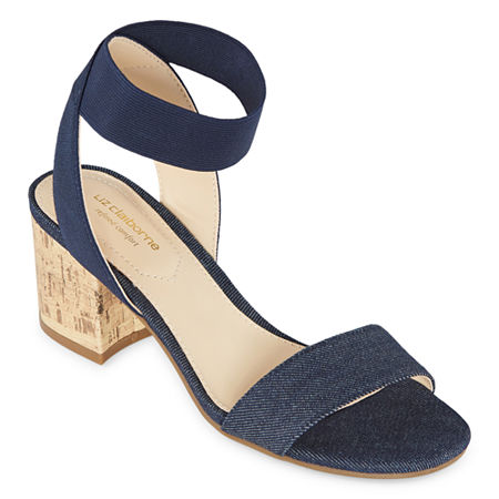Liz Claiborne Womens Eastwick Strap Sandals, 6 Medium, Blue