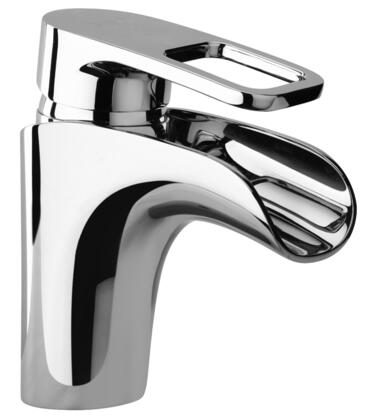 10212-65 Single Loop Handle Lavatory Faucet With Waterfall Spout Brushed Copper