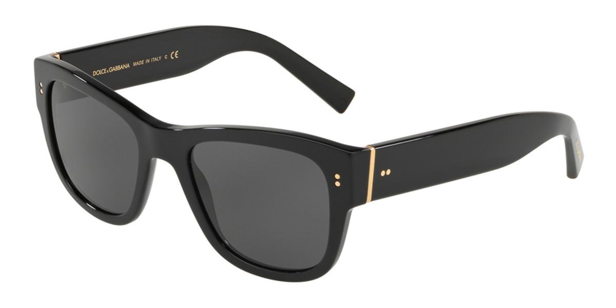 Dolce & Gabbana DG4338 501/87 Men's Sunglasses Black Size 52
