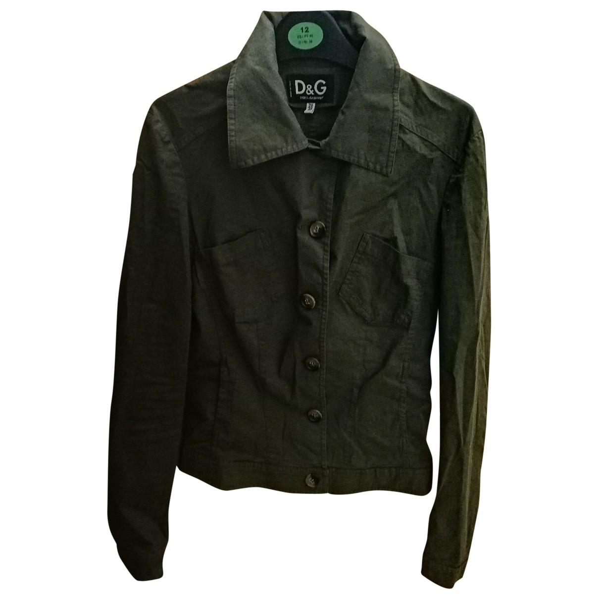 D&g \N Khaki Cotton jacket for Women 40 FR