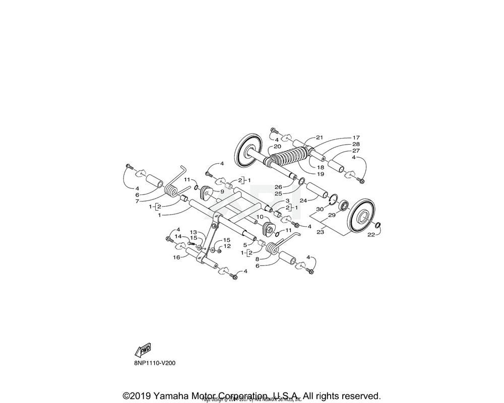 Yamaha OEM 8JM-F3760-00-00 SPRING ASSY 1