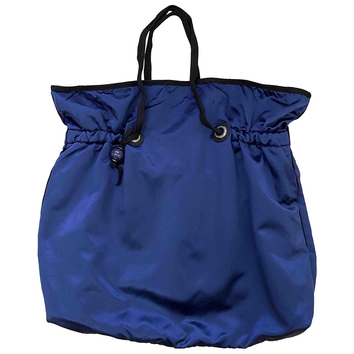 Lanvin - Sac a main   pour femme en toile - bleu